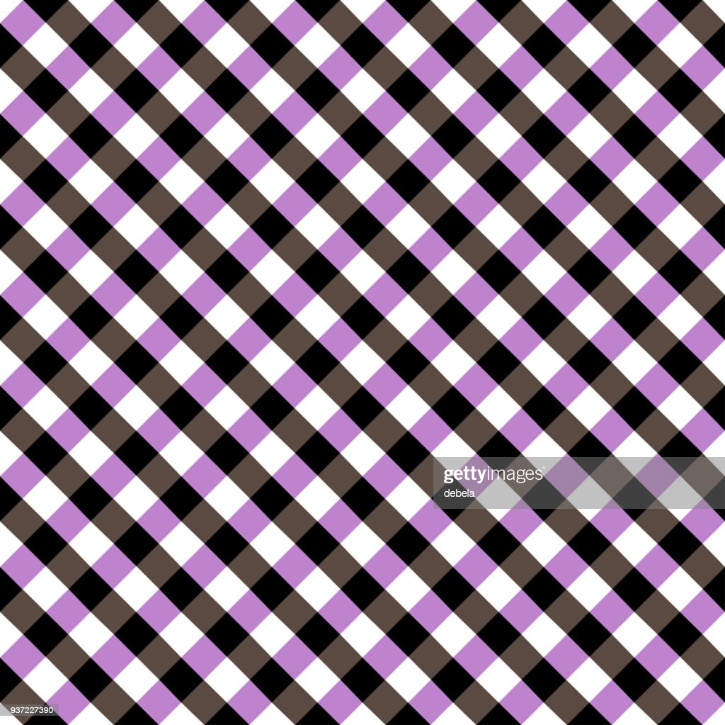 Black And Purple Tablecloth Argyle Pattern : Vector Art
