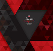 Black and red abstract background vector.