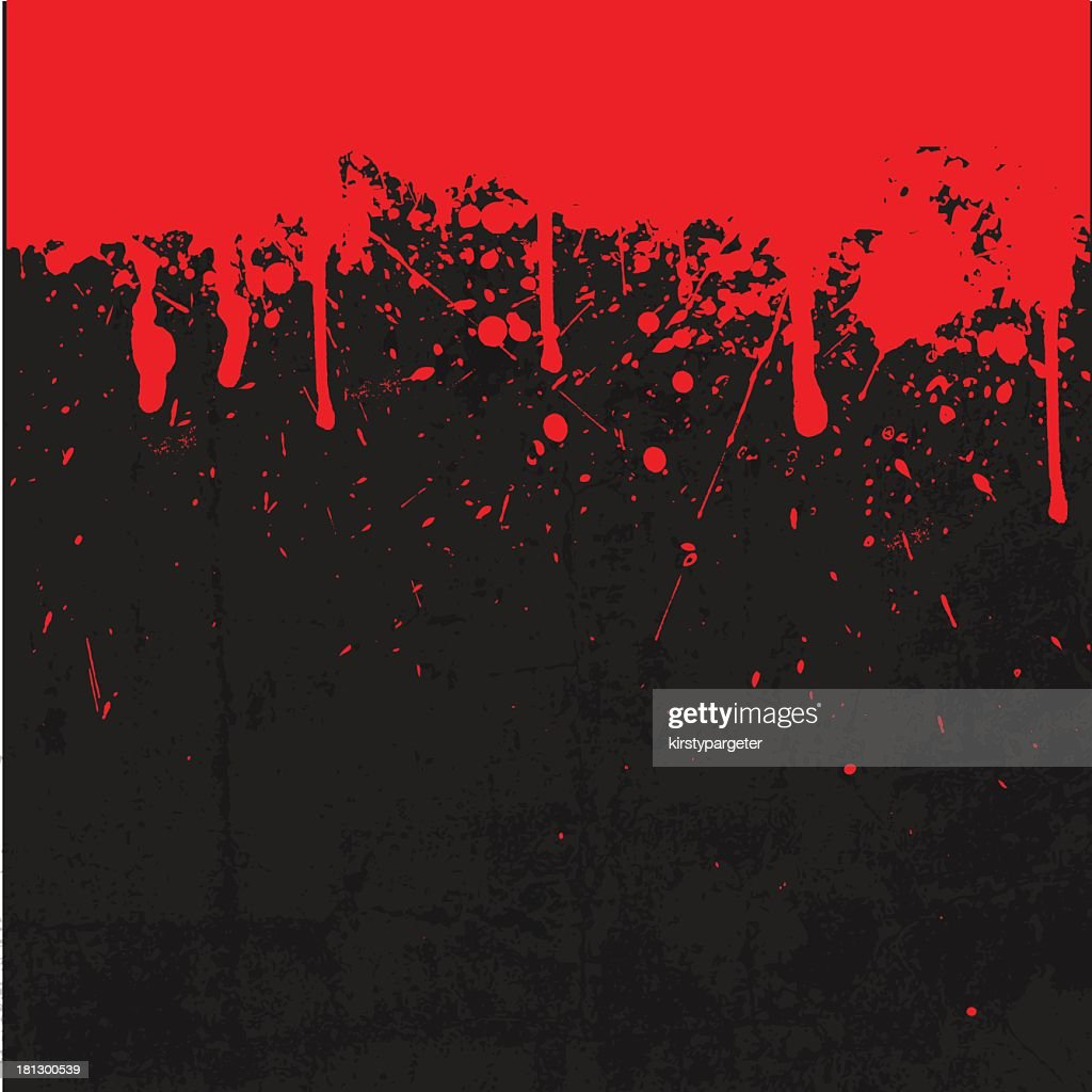 Black and red blood splattered background