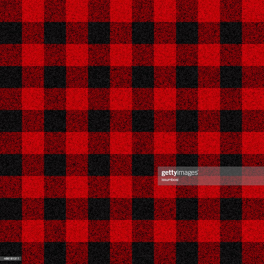 Black and red checkerboard lumberjack plaid pattern