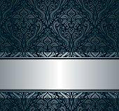Black and silver vintage wallpaper