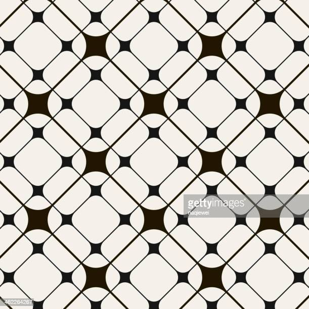 black and white abstract pattern background - textile industry stock illustrations