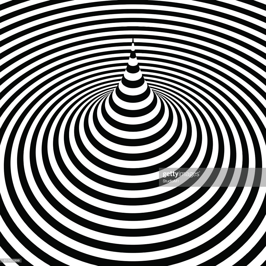 Black and white abstract striped background. Optical Art.