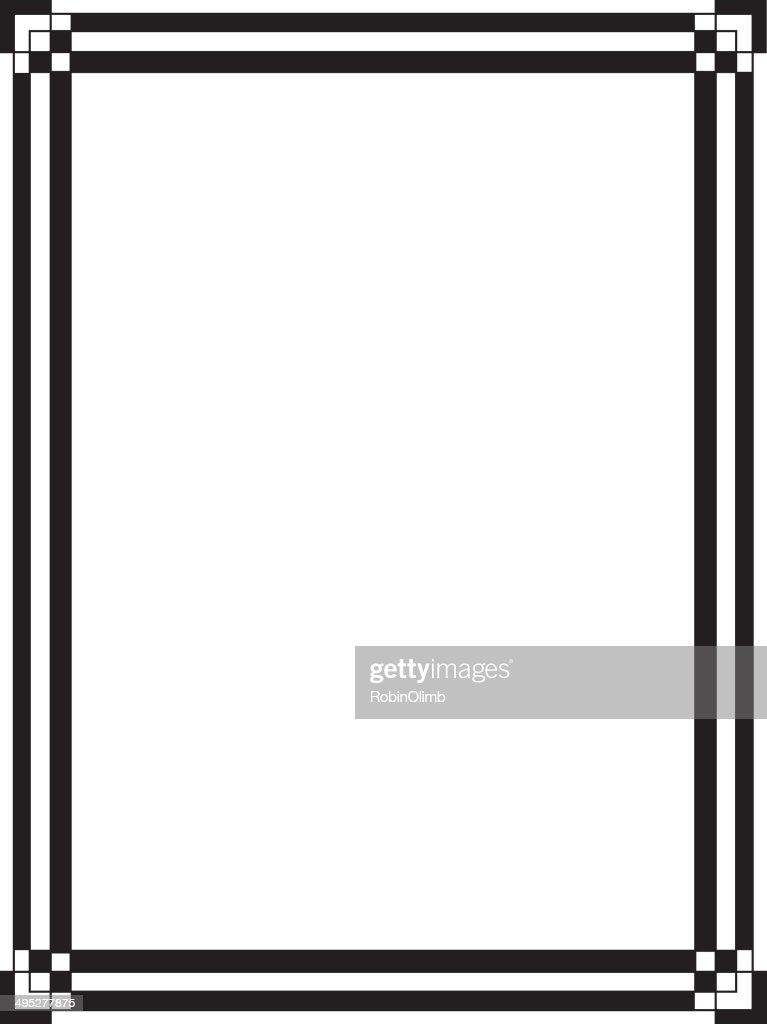 Black And White Art Deco Border