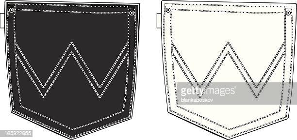 Black and White Back Pockets