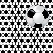 Black and white background with soccer ball