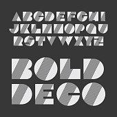 Black and White Bold Font Set Design