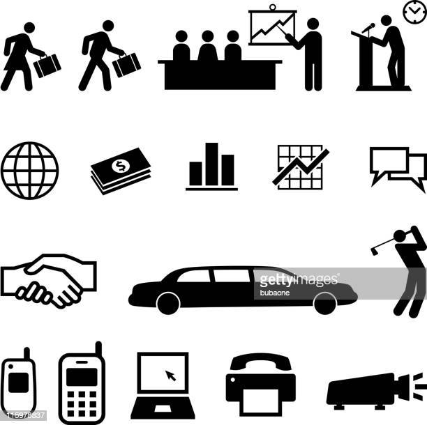 Black and White Business People and Activities on Business set