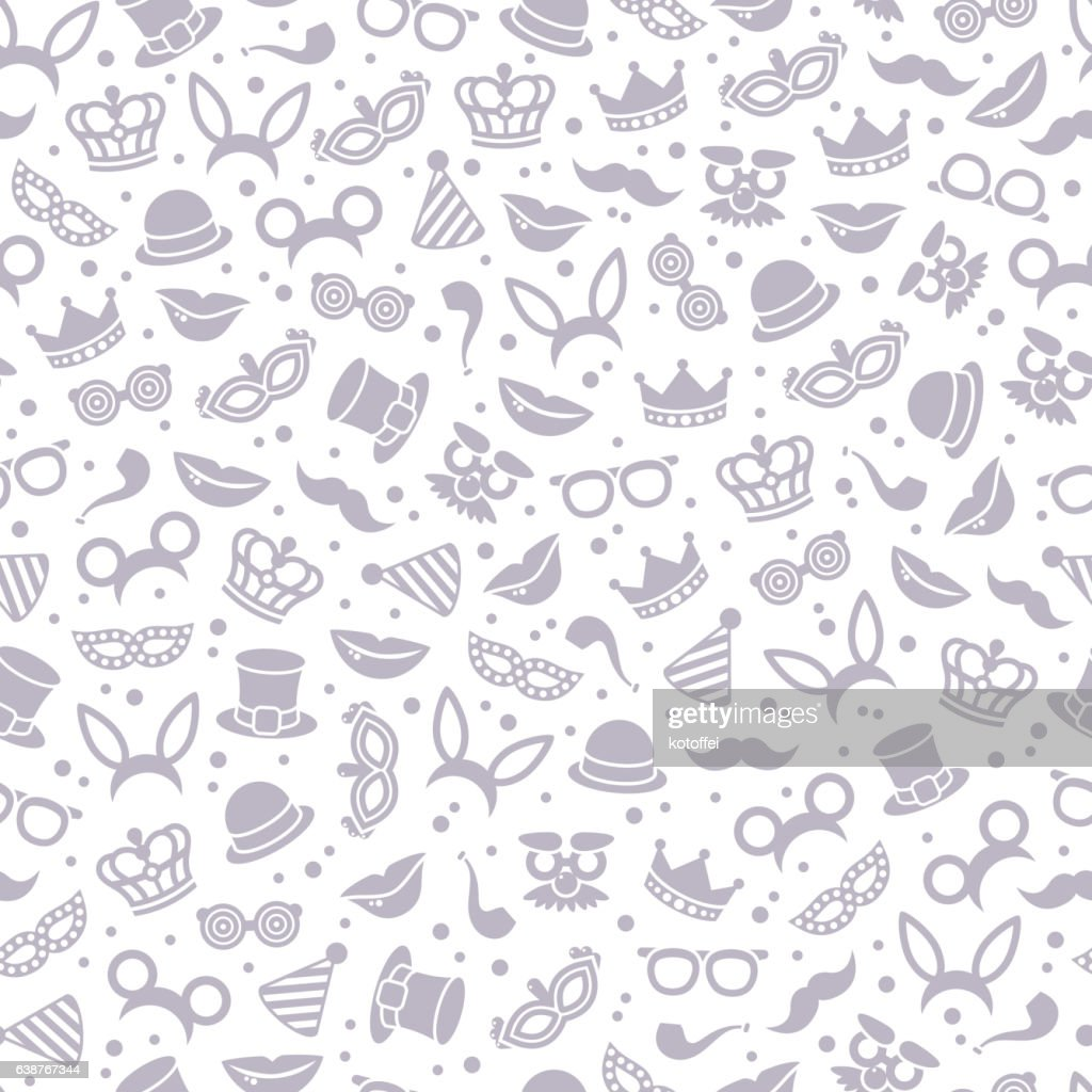 Black and white carnival seamless pattern