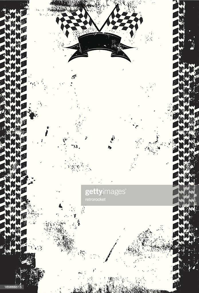 Black and white checkered flag background print