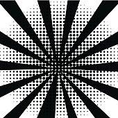 black and white comic background raster gradient halftone pop art