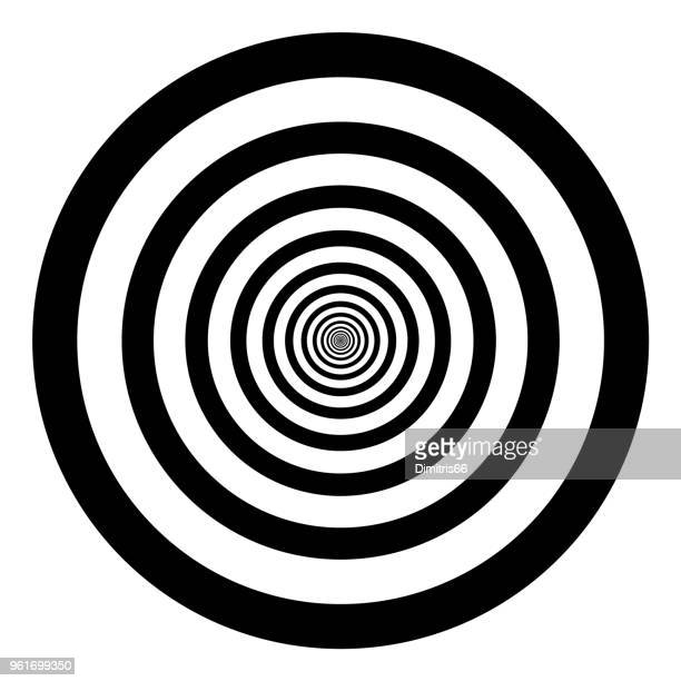Black and white concentric circle pattern.