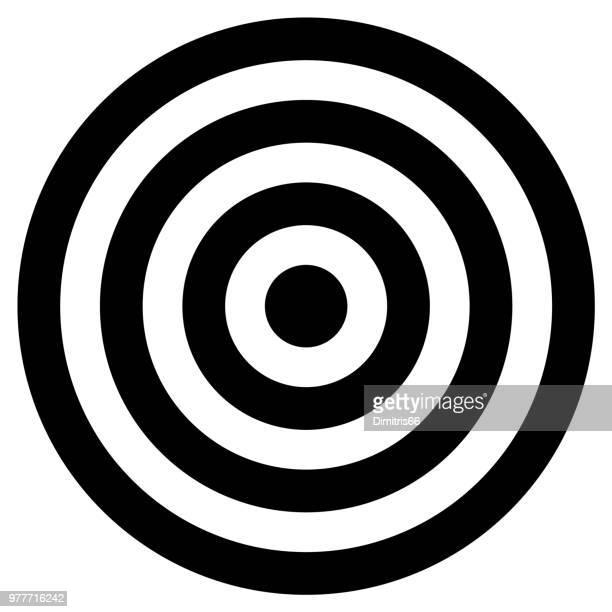 ilustraciones, imágenes clip art, dibujos animados e iconos de stock de cirlcles concéntricos blancos y negros - blanco color