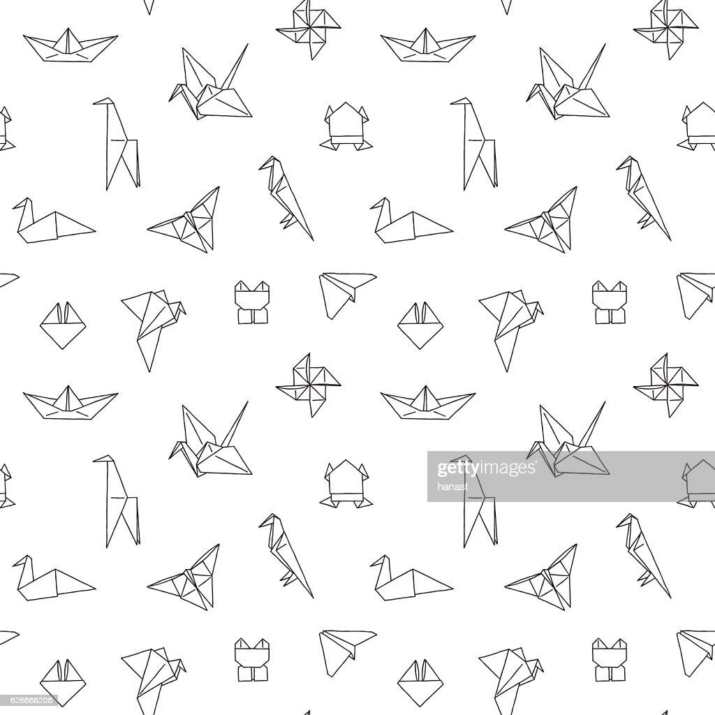 Black and White Cute Kids Seamless Pattern