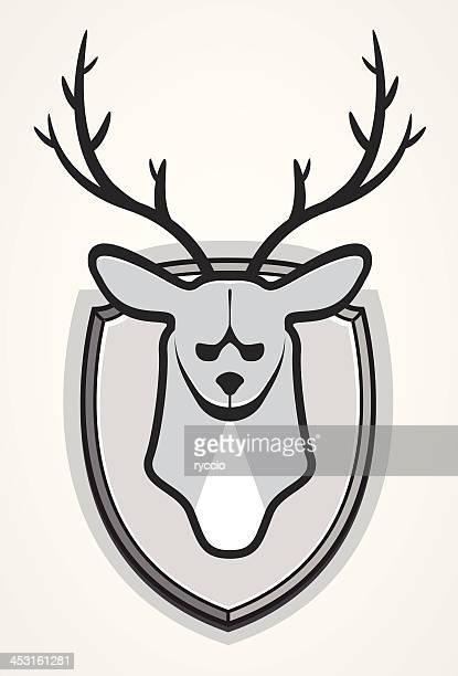 black and white deer trophy