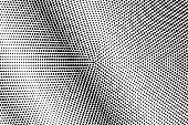 Black and white dotted gradient. Contrast half tone vector background. Textured dotted halftone.