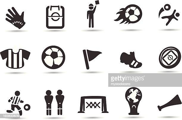 black and white flat, simple soccer icons - corner marking stock illustrations, clip art, cartoons, & icons