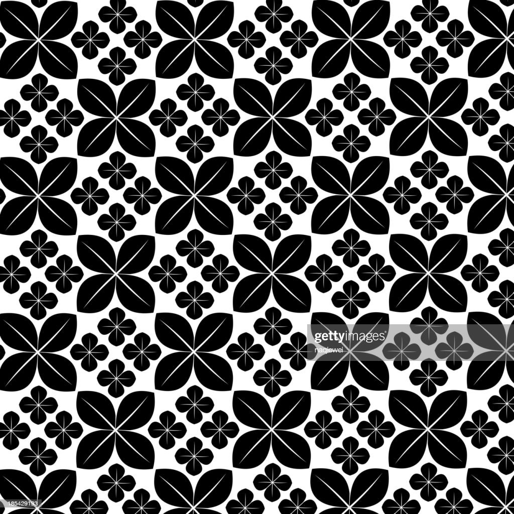 Black And White Floral Pattern Background High Res Vector Graphic
