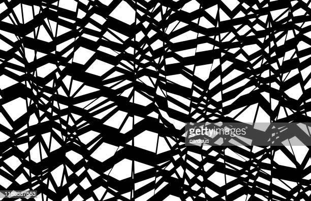 bildbanksillustrationer, clip art samt tecknat material och ikoner med svart och vit geometrisk bakgrund - naturligt mönster