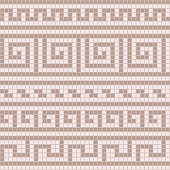Black and white geometric greek meander traditional seamless pattern, vector