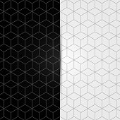 Black and white geometric seamless pattern. Vector