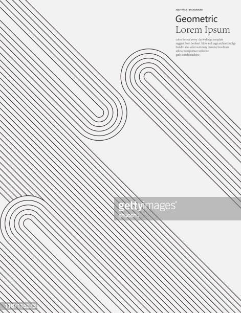 black and white geometric style line pattern background - pattern stock illustrations