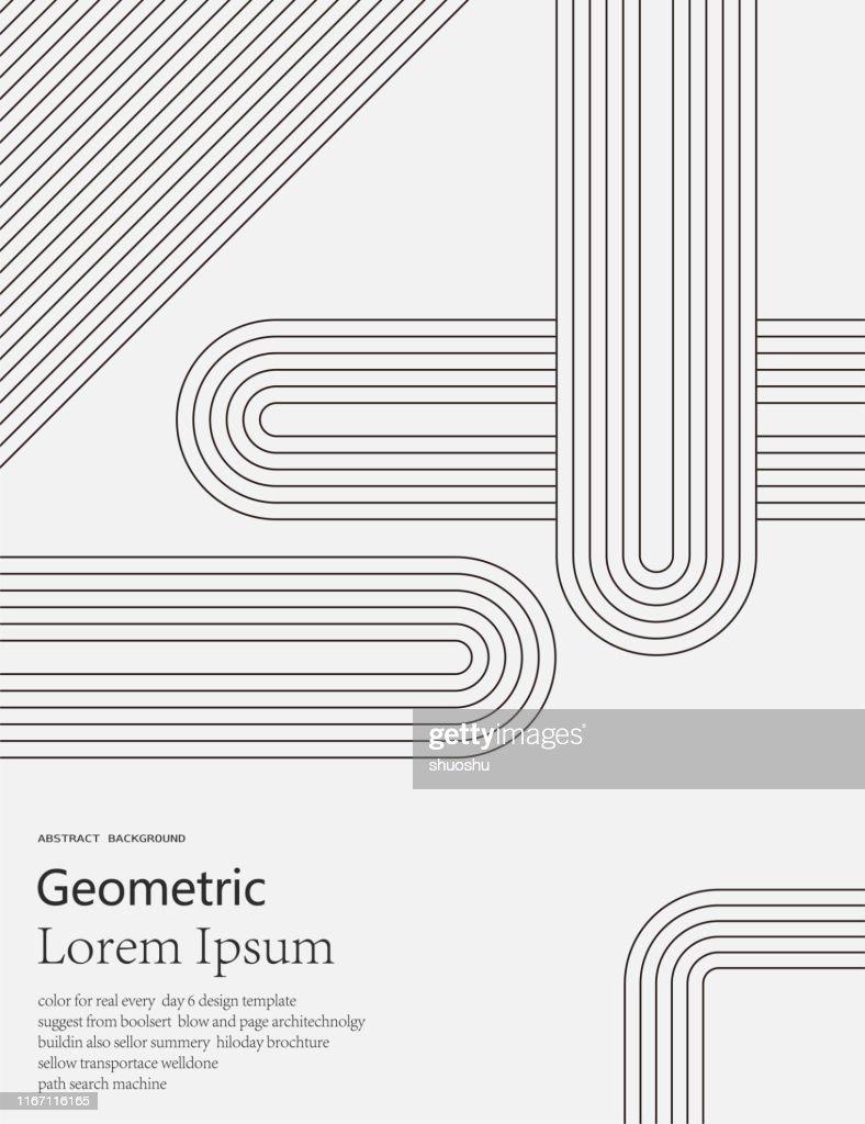 sfondo motivo linea geometrica in bianco e nero : Illustrazione stock