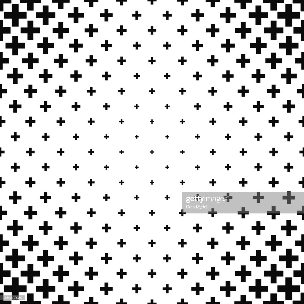 Black and white greek cross pattern