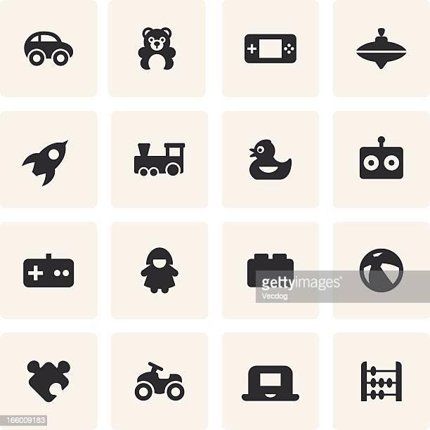 Set di icone giocattoli