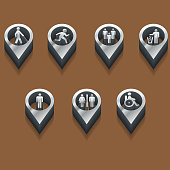 black and white icons people. isometric