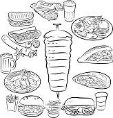 Free Shawarma, Gyro, Donner, Kebab, Pita Stock Photo