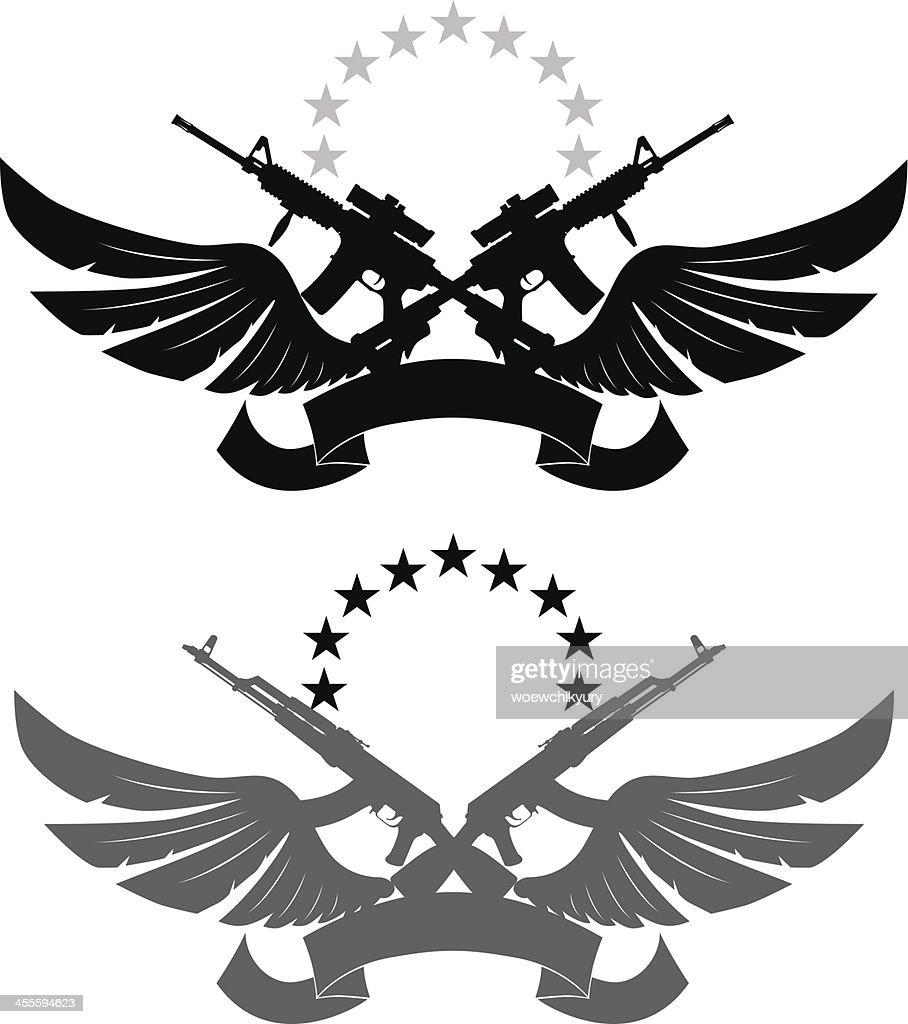 Emblema de militares : Ilustración de stock