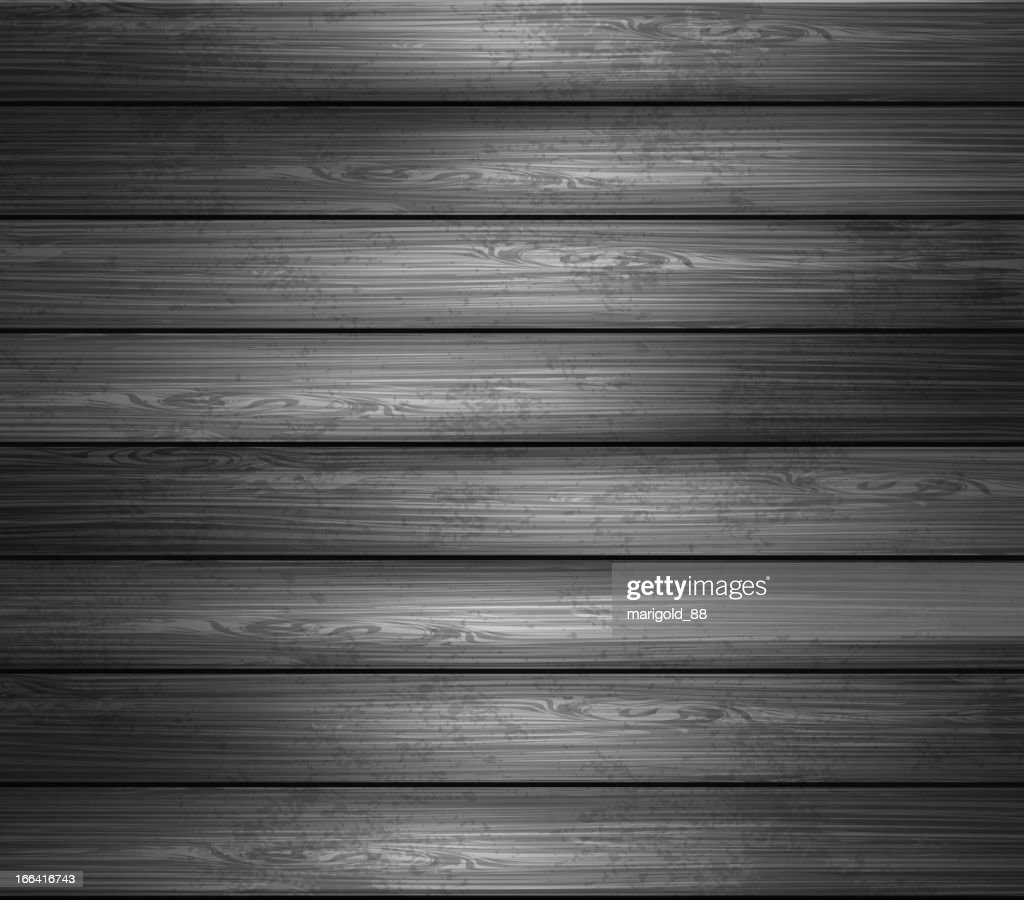 Black and white image of wooden planks