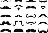 Black and white images of moustaches