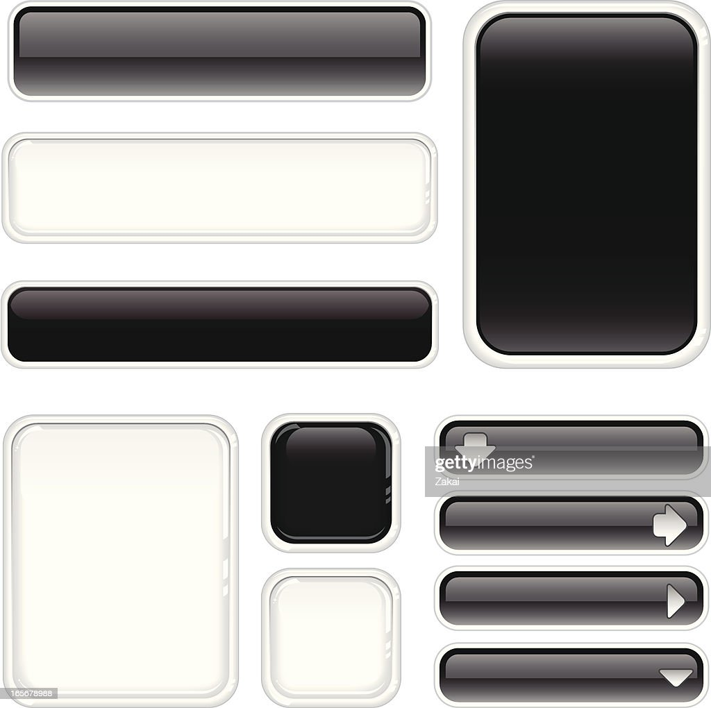 Black and White Internet Buttons & Boards