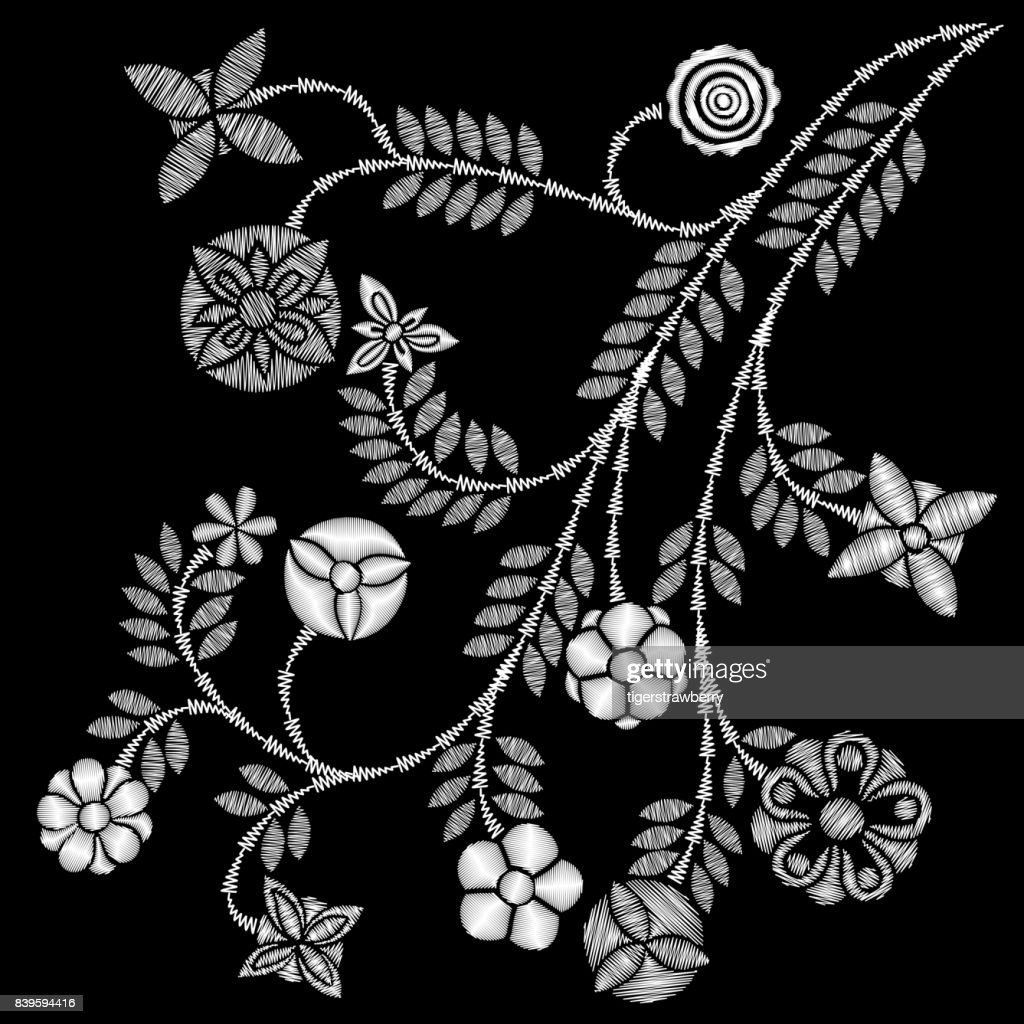 Black And White Lace Vector Design Contemporary Lace Background