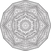 Black And White Mandala With African Ornament