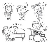 Black and white musicians children