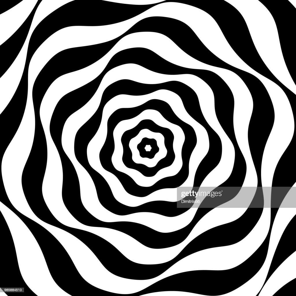 Schwarz / weiß-Op-art : Stock-Illustration