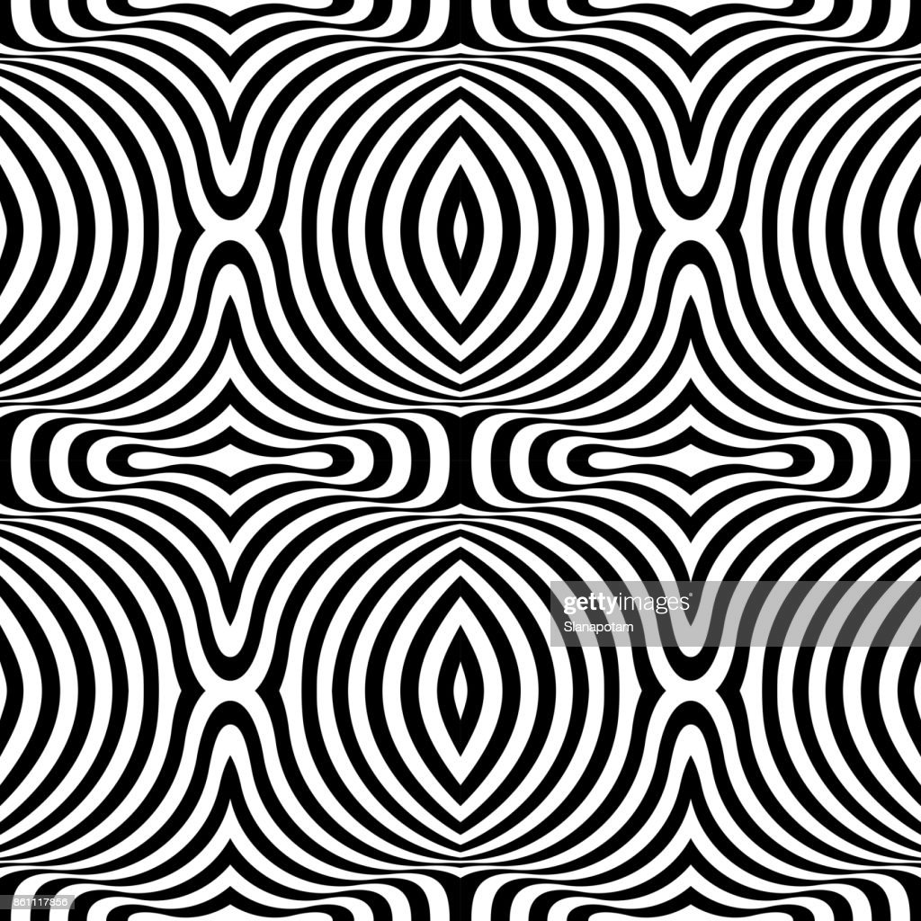 Black and white opt art background