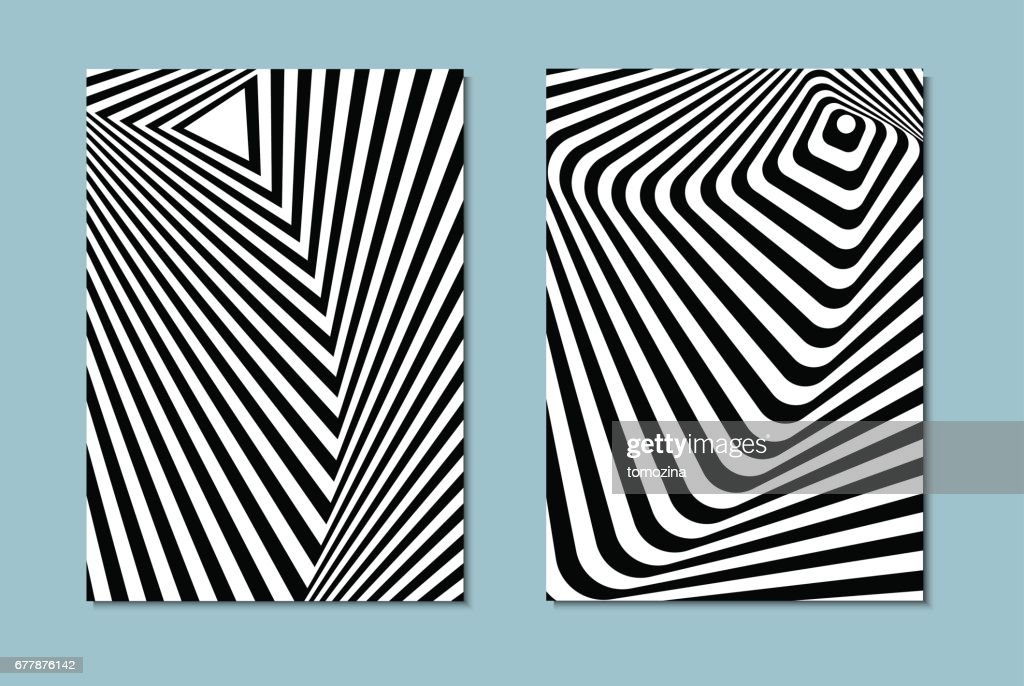 black and white opt art