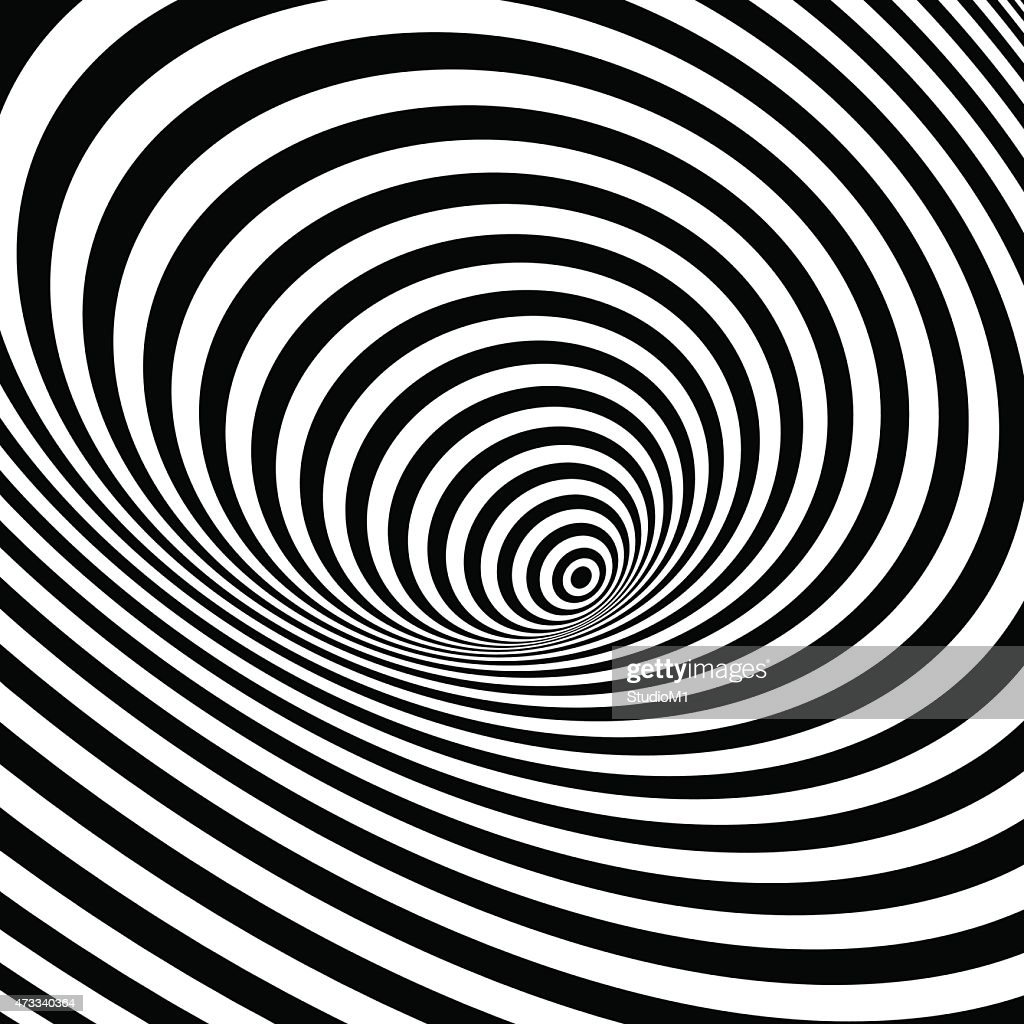 Black and white optical illusion background
