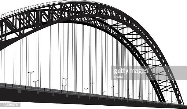 black and white photo of cable-stayed bridge - bridge built structure stock illustrations, clip art, cartoons, & icons