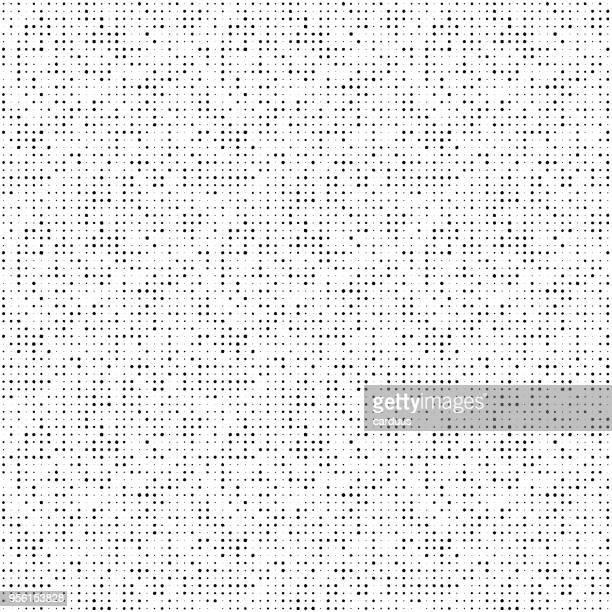 illustrazioni stock, clip art, cartoni animati e icone di tendenza di black and white  points  seamless pattern - motivo a griglia