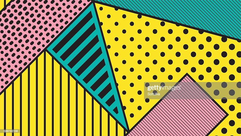black and white pop art geometric pattern