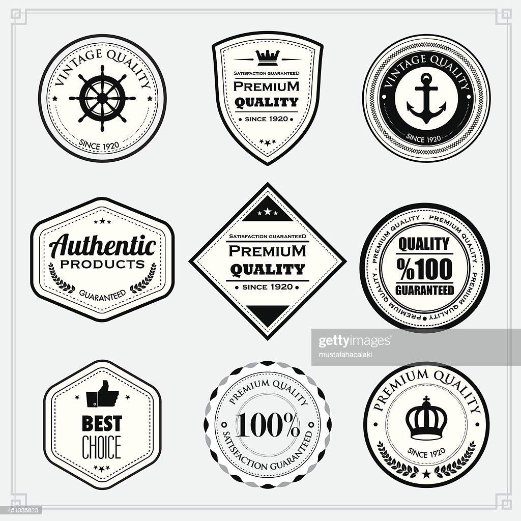 Black and White premium quality stamps : stock illustration