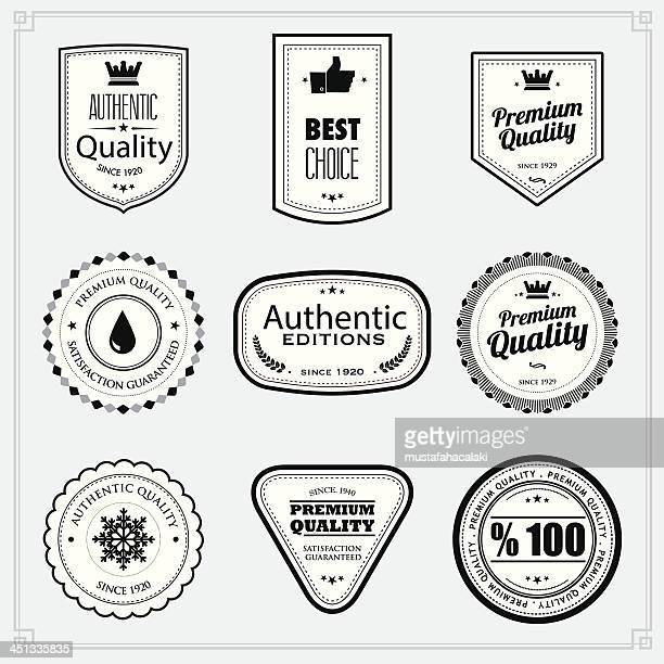 black and white premium quality stamps - approval stock illustrations, clip art, cartoons, & icons