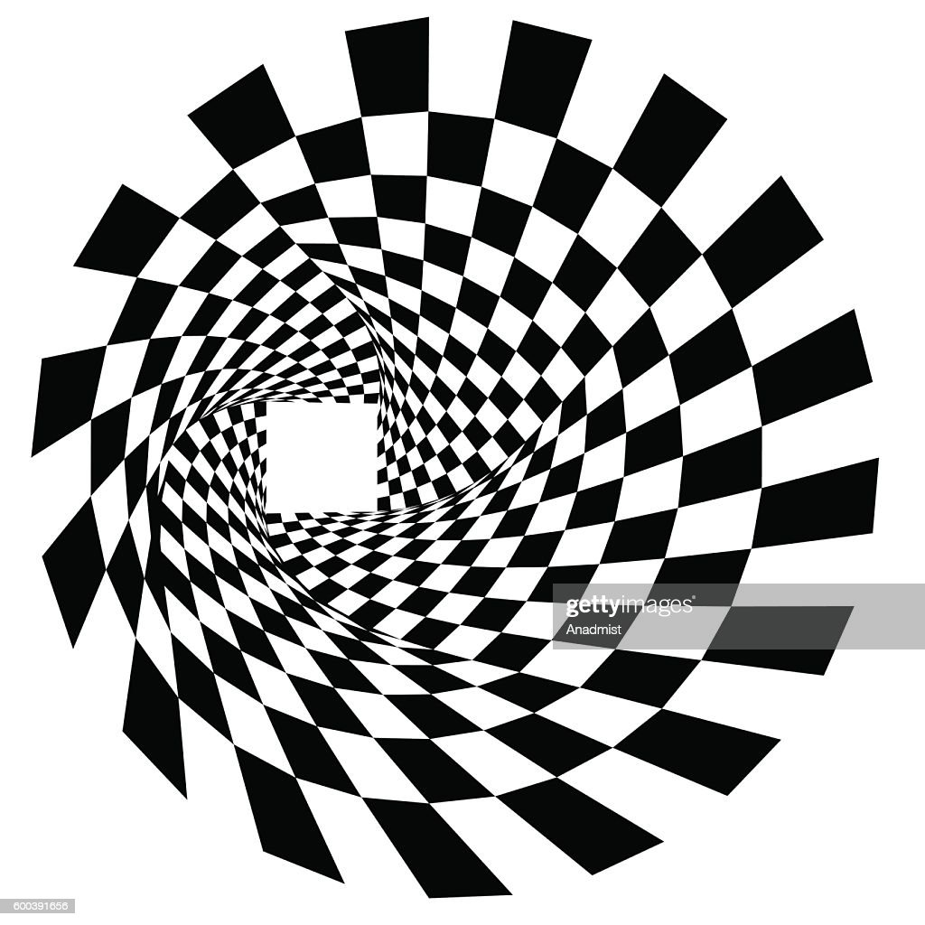 Black and white rectangles in twist tunnel