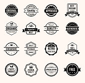 Black and White Retro Badges
