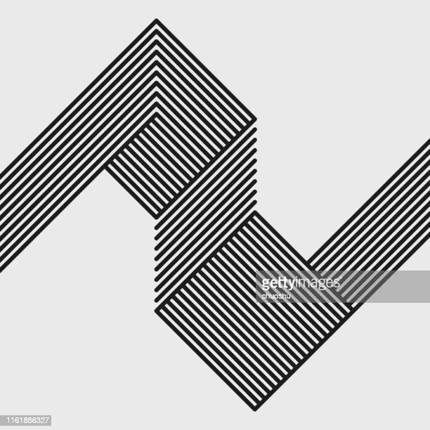 black and white rotate stripe pattern background - monochrome stock illustrations
